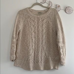 {Lucky} loose knit cable sweater